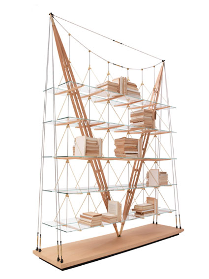 Libreria design Veliero vista diagonale