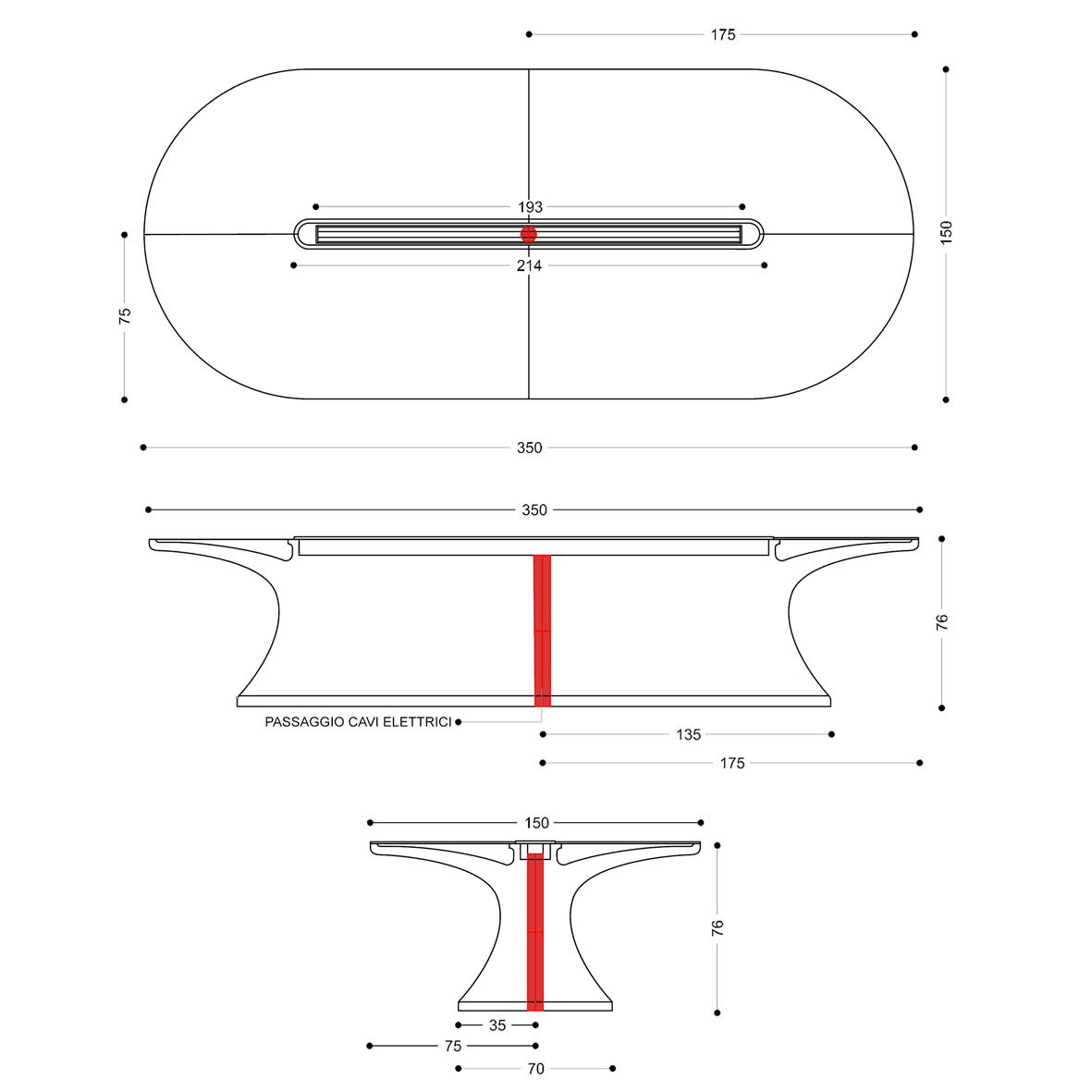 Tavolo Riunioni Dimensioni.Tavolo Riunioni Design Info Table Moderno E Funzionale Top