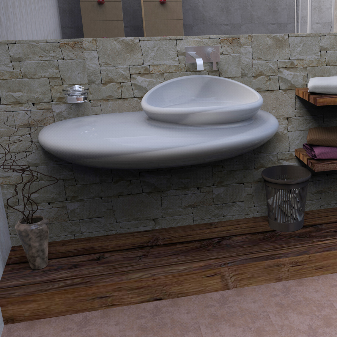Stone lavandini e vasche zad zone of absolute design for Lavandini moderni bagno