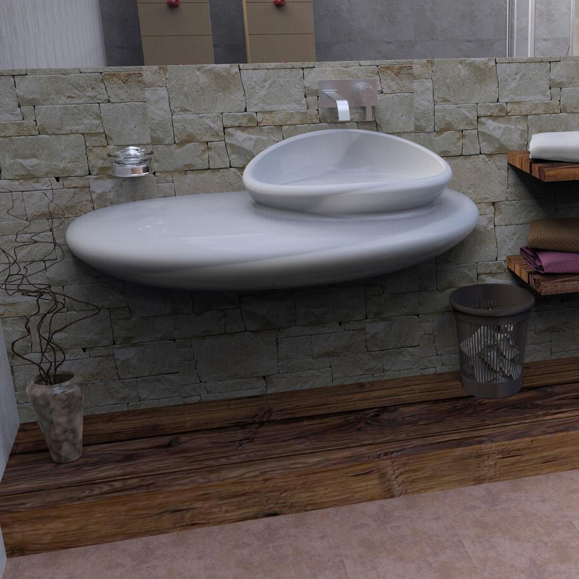 Stone lavandini e vasche zad zone of absolute design for Lavandino design