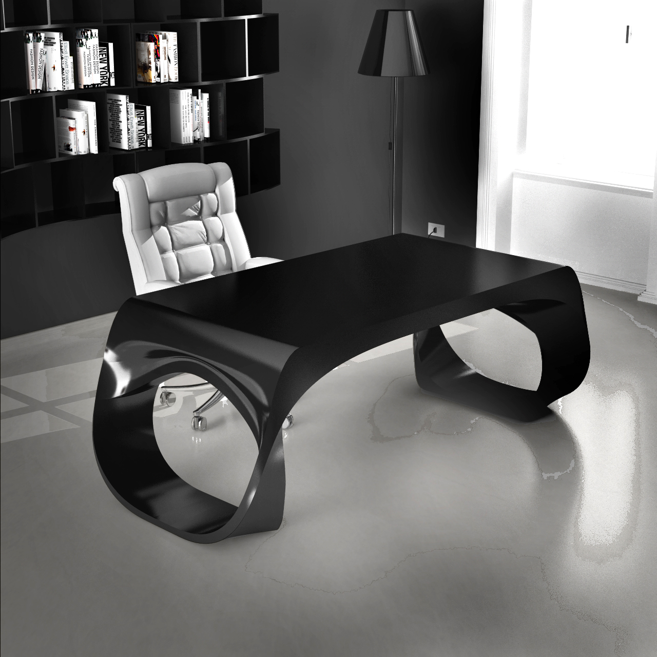 Infinity desk zad zone of absolute designarredamenti - Scrivania design moderno ...