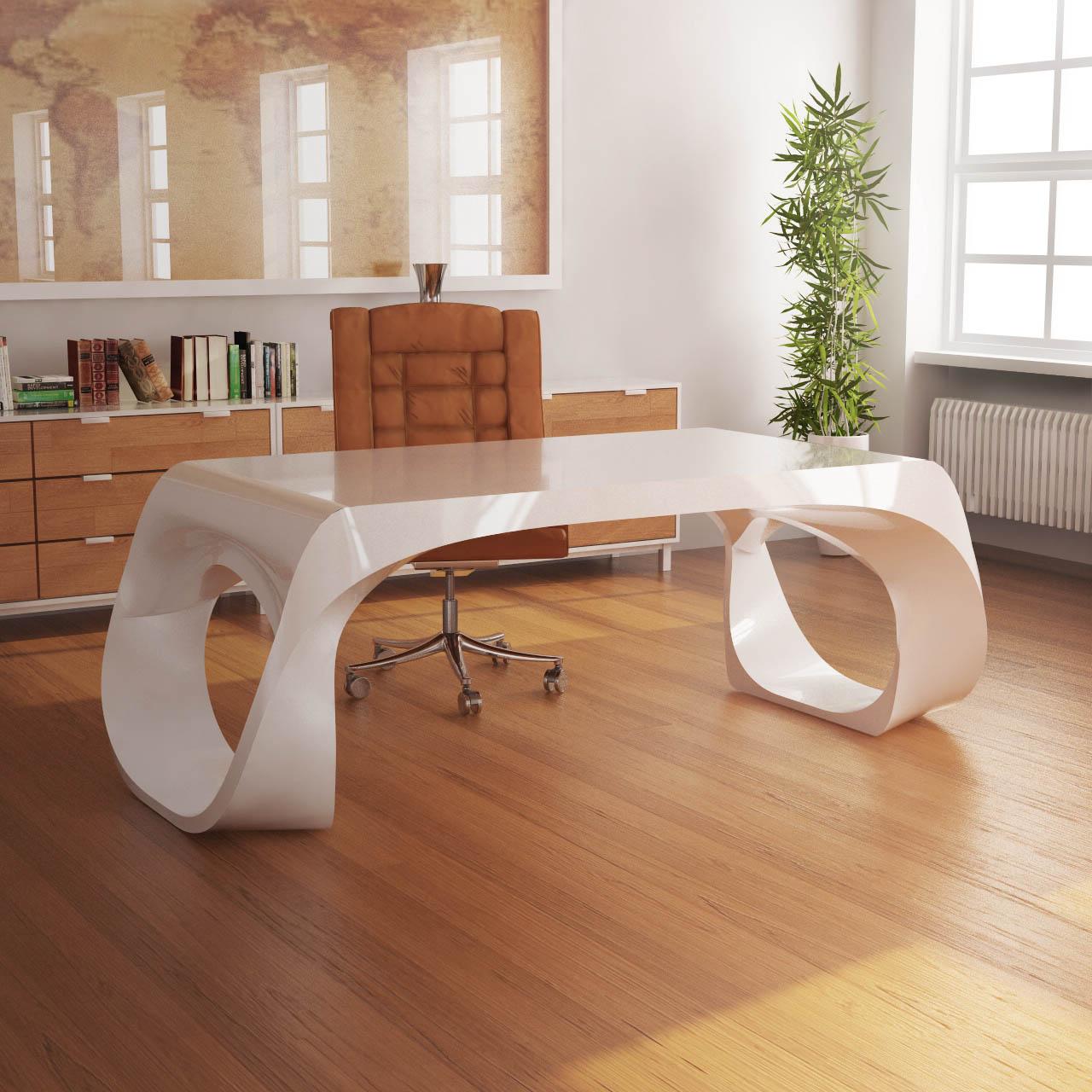 Infinity desk zad zone of absolute designarredamenti for Scrivania design