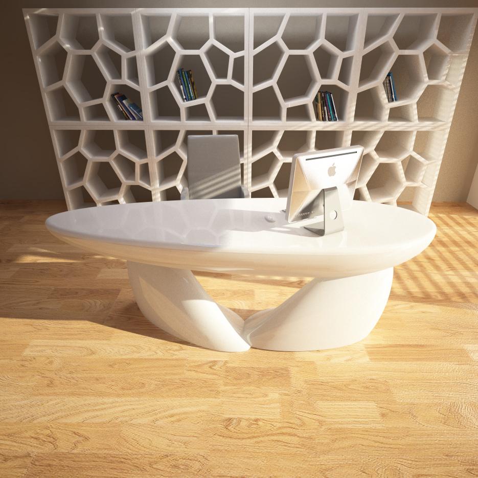 Softstone tavoli e scrivanie zad zone of absolute design for Dimensioni mobili ufficio