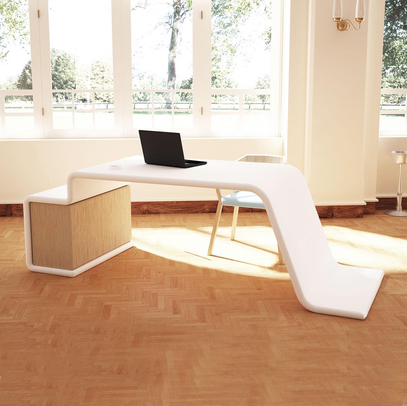 La scrivania design vy funzionale ed elegante in ogni for Consolle scrivania moderna