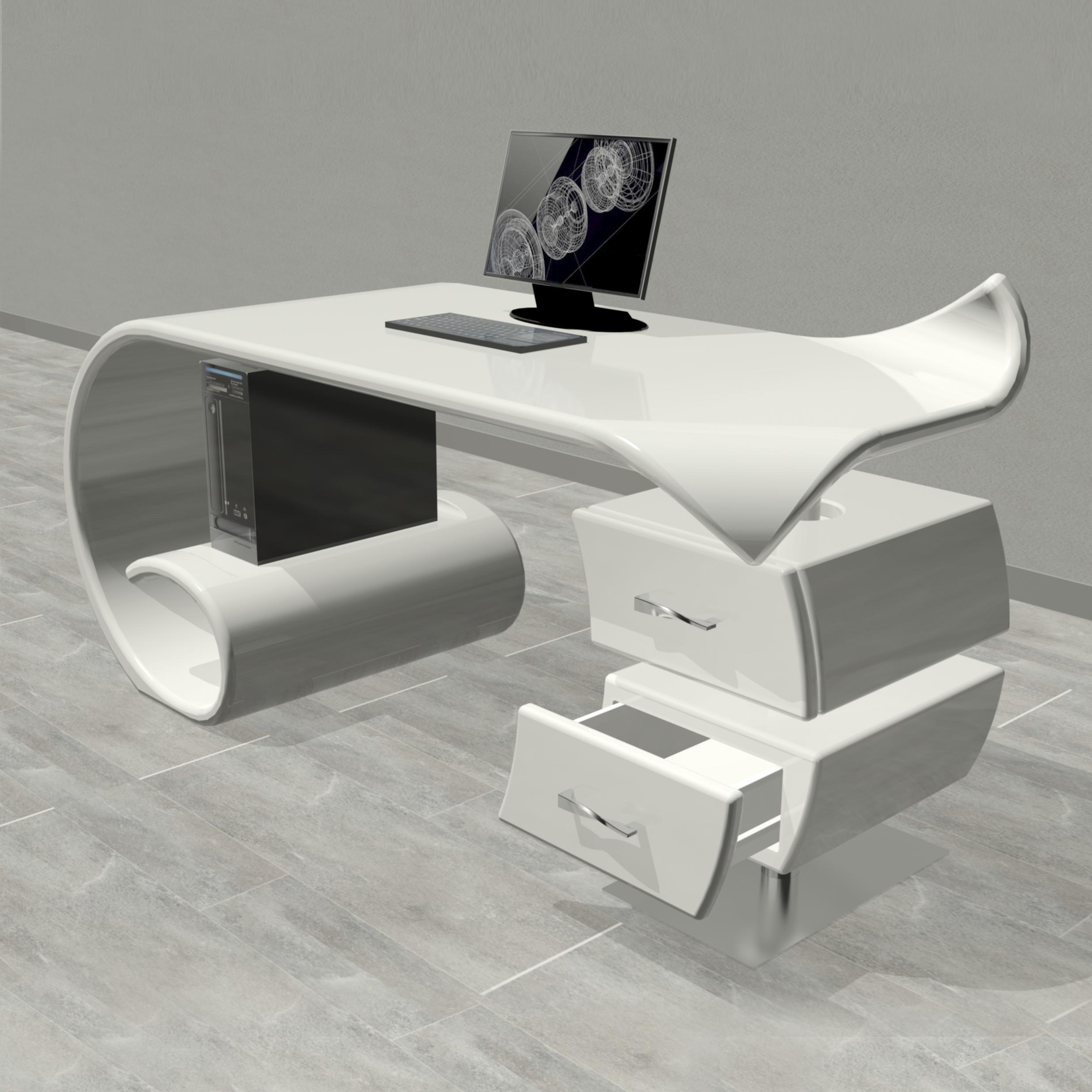 Waves tavoli e scrivanie zad zone of absolute design for Scrivania design