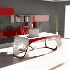 Scrivania Presidenziale Infinity Desk, realizzata in Adamantx®, by BABINI OFFICE