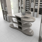 Desk Reception,Cassa Futuristico ed Elegante in Adamantx®, by Poli Maurizio Designer