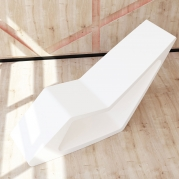 Chaise Longue in Adamantx® made in italy
