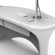 Desk Reception Design Ely Desk bianco dettaglio