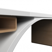 Desk Bridge in Adamantx® e Legno, by Studio Progettisti Associati