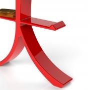 Libreria design rossa fuoco | dettaglio