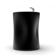 Lavabo di design vista laterale colore neroopaco