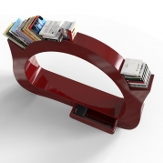 Libreria Design My Space Red vista dall'alto