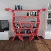 Libreria design Tulip frontale ambientata