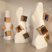 Libreria design made in italy modello K2 | vista diagonale