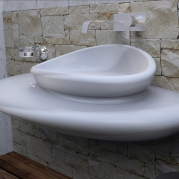 Lavabo in Adamantx® by Roberto Corazza - STONE
