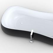 vasca da bagno design Rounded con vista dettaglio BN