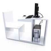 Workstation per computer in Adamantx®. Design compatto. By Salvatore Privitera.