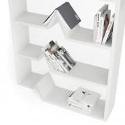 Libreria Design Darwin in Adamantx®, vista dettaglio| Laccata lucida Bianca
