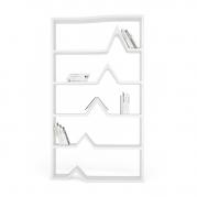 Libreria Design Darwin in Adamantx®, vista frontale | Laccata lucida Bianca