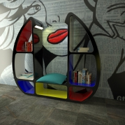 libreria design made in italy, bookcase made in italy