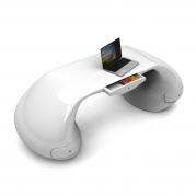 scrivania design Massive bianca con cassetto