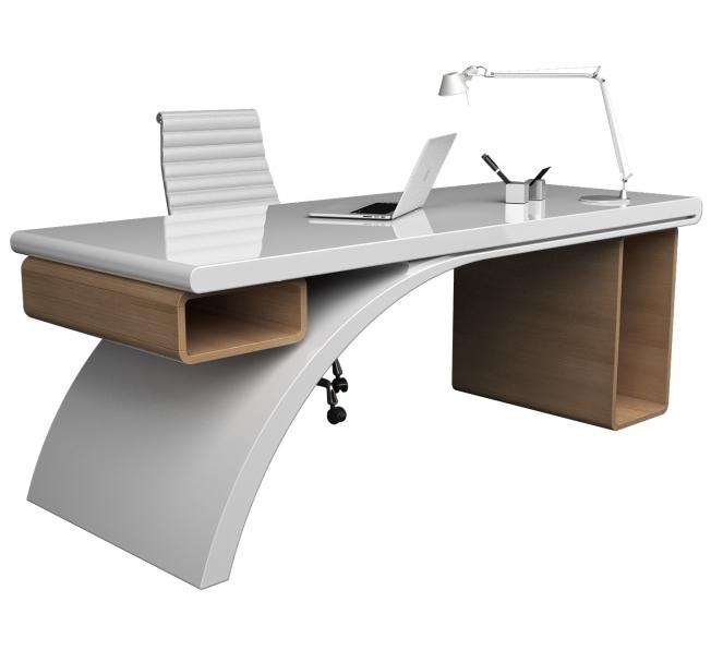 Desk Bridge in Adamantx® e Legno, by Studio Progettisti Associati