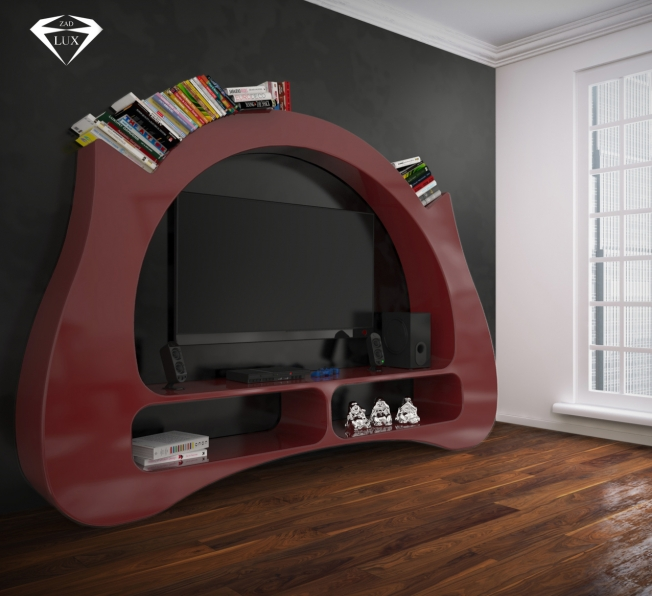 Libreria Design My Space Red