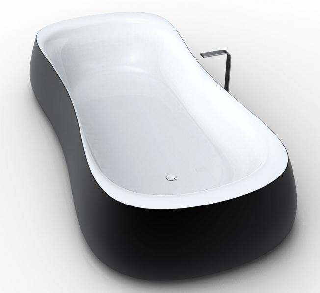 vasca da bagno design Rounded con vista diagonale BN