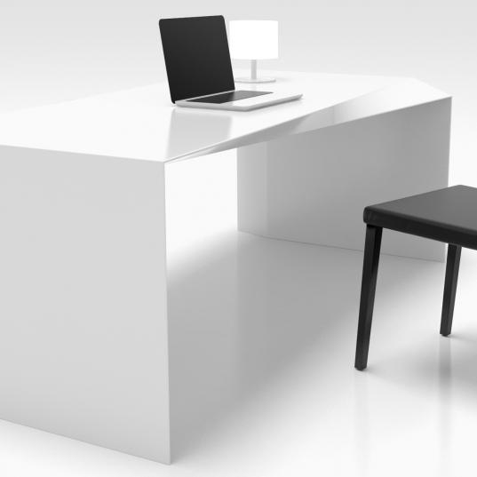Scrivania Bianca Laccata Lucida.Shift Tavoli E Scrivanie Zad Zone Of Absolute Design