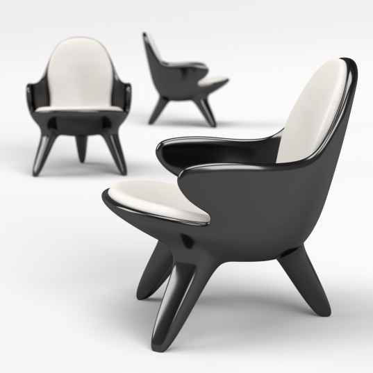 Poltroncina design in Adamantx® by Francesco Bazzica