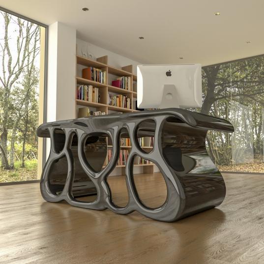 scrivania design Wild nera