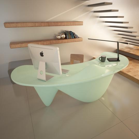 Sinuous tavoli e scrivanie zad zone of absolute design for Design ufficio napoli