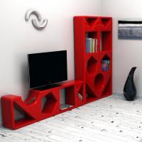 Libreria geometrica in Adamantx® ideata da Paolo D'Ippolito Designer